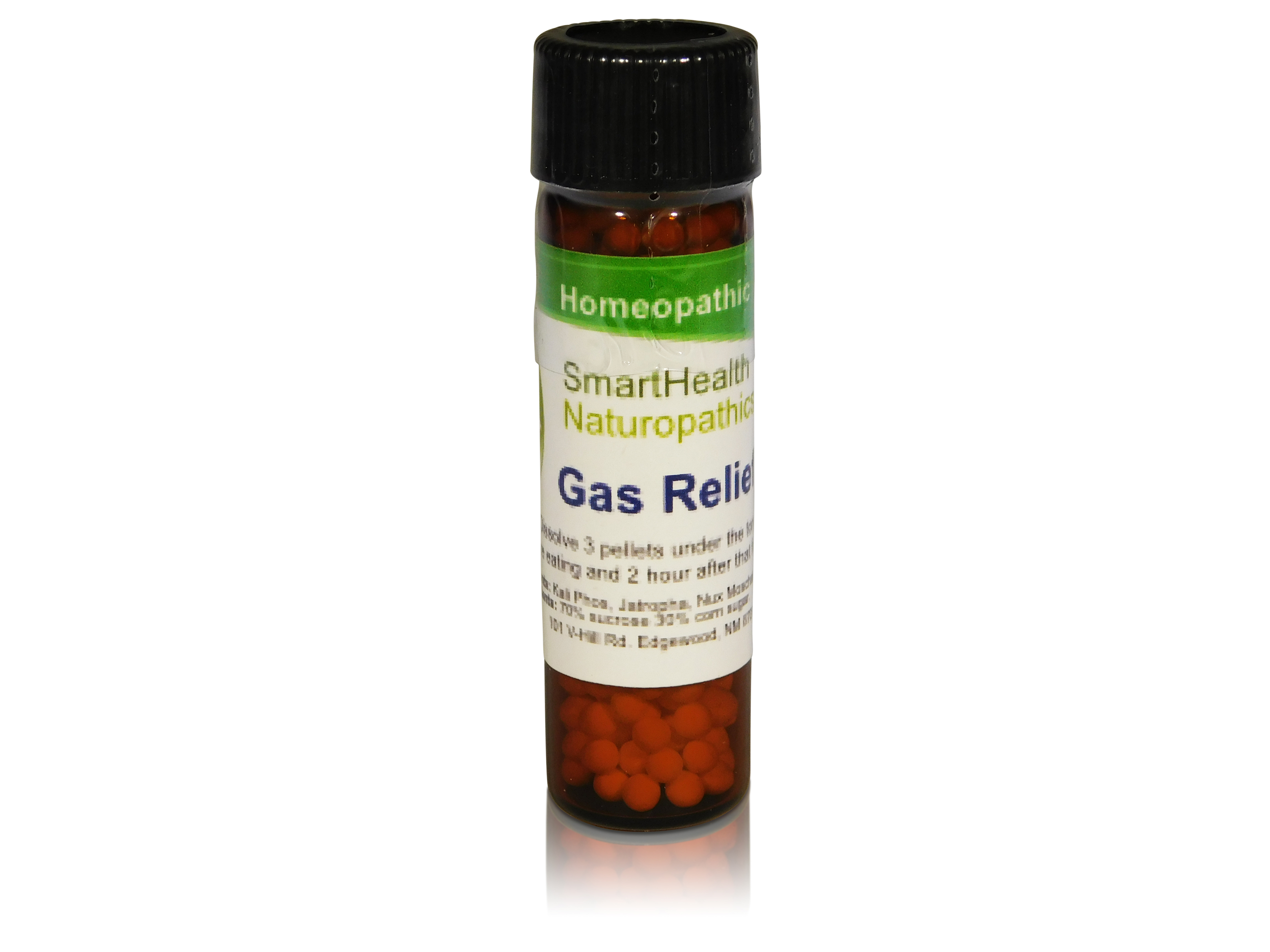 Gas Relief Formula. All Natural Homeopathic Oral Pellets.